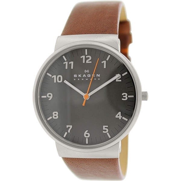 Skagen Men's Ancher SKW6095 Brown Leather Automatic Watch