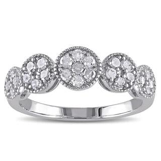 Miadora Sterling Silver 1/2ct TDW Diamond Ring (H-I, I2-I3)