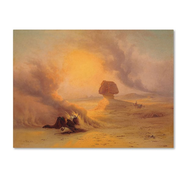 Johann Frey 'A Caravan Caught in the Sinum Wind' Canvas Art
