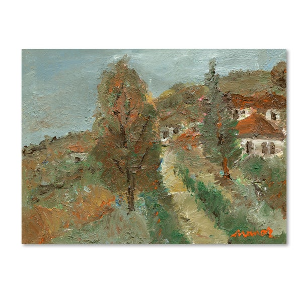 Manor Shadian 'Last Days of Fall' Canvas Art