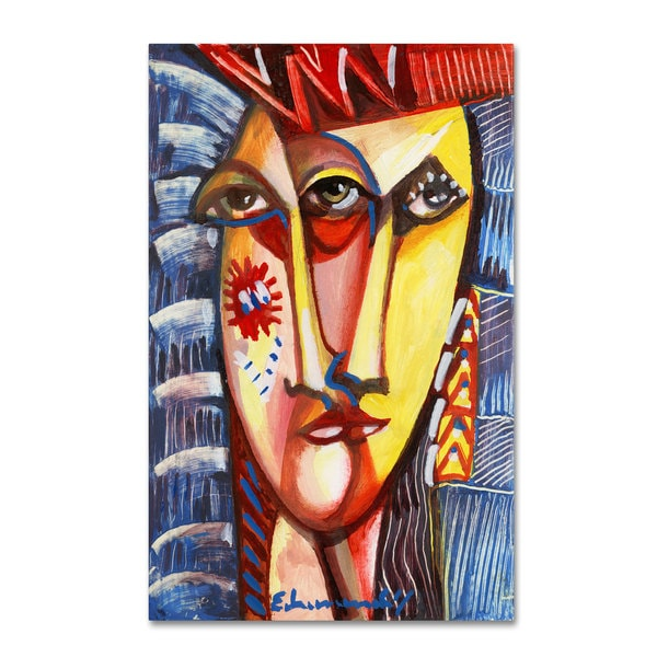 Echemerdia 'Man with Red Hat' Canvas Art