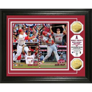 Mike Trout 'Back to Back MLB All-Star Game MVP' Gold Coin Photo Mint