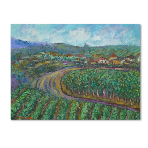 Manor Shadian 'Cherry Trees and Strawberry Fields' Canvas Art