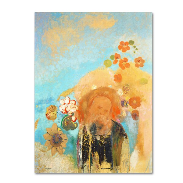 Odilon Redon 'Evocation of Roussel 1912' Canvas Art