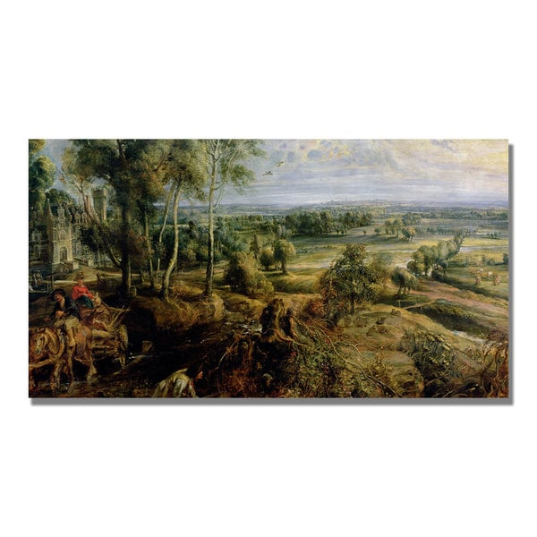 Peter Rubens 'An Autumn Landscape III' Canvas Art