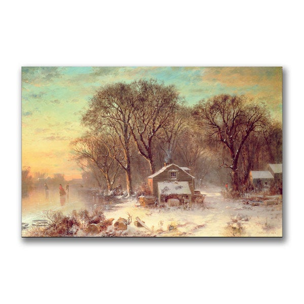 Thomas Doughty 'Winter in Malden Massachusetts' Canvas Art