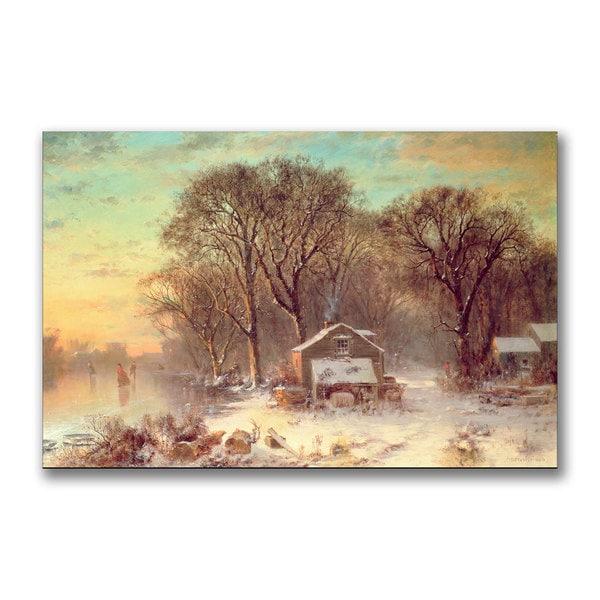 Thomas Doughty 'Winter in Malden Massachusetts' Canvas Art