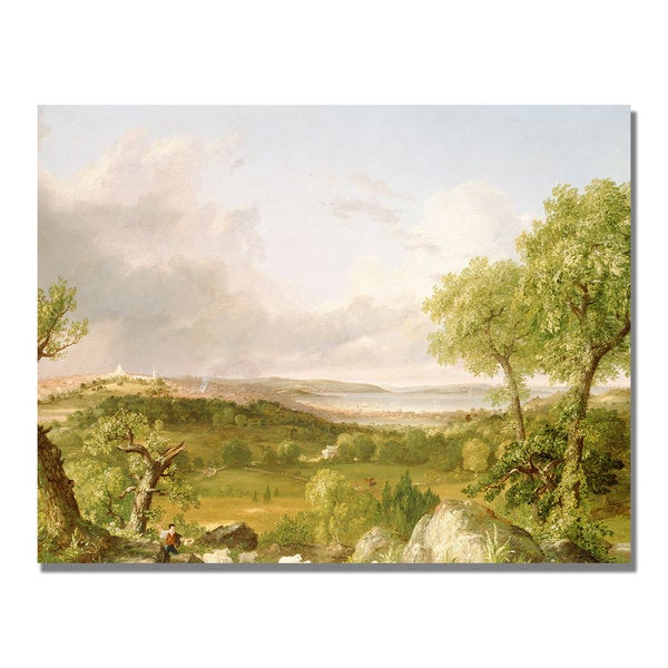 Thomas Cole 'View of Boston' Canvas Art
