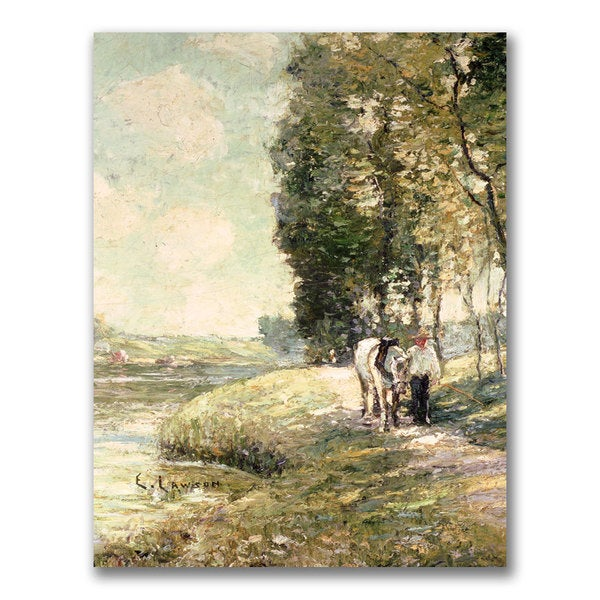 Ernest Lawson 'Country Road to Spuyten' Canvas Art