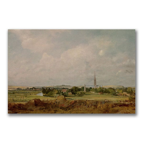 John Constable 'View of Salisbury' Canvas Art