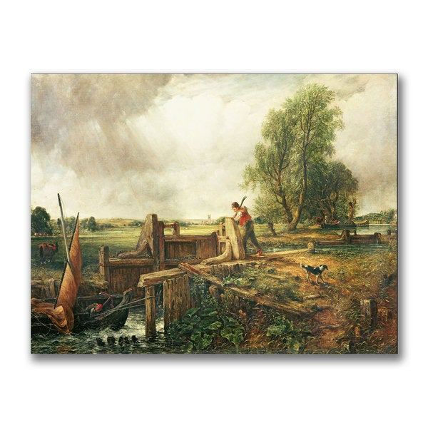 John Constable 'A Passing a Lock' Canvas Art