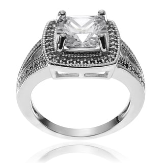 Journee Collection Metal Cubic Zirconia Split Band Engagment Ring