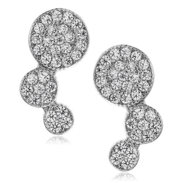Journee Collection Metal Cubic Zirconia Circle Post Earrings