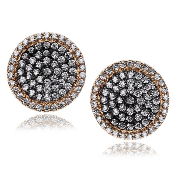Journee Collection Metal Cubic Zirconia Circle Stud Earrings