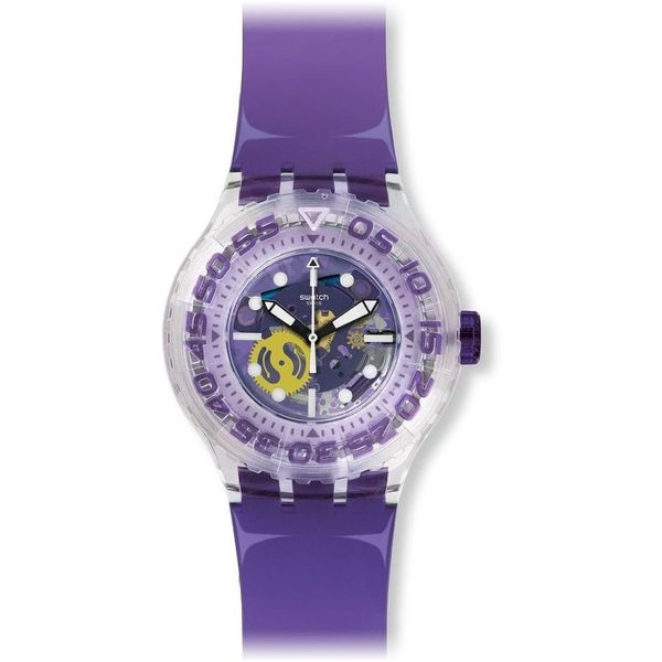 Swatch Men's Originals SUUK106 Purple Rubber Swiss Quartz Watch