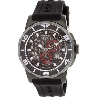 Invicta Men's Reserve 18951 Black Silicone Swiss Quartz Watch