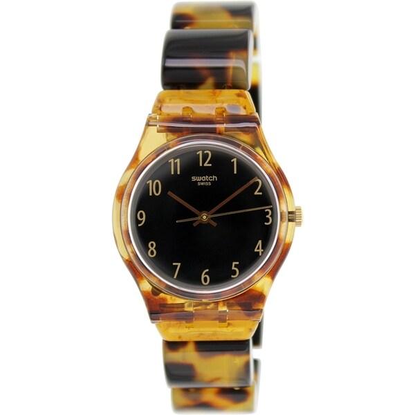 Swatch Women's Originals GC113A Brown Plastic Swiss Quartz Watch