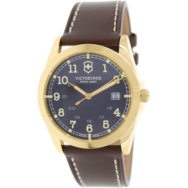 Victorinox Swiss Army Men's Infantry 241645 Brown Leather Swiss Quartz Watch