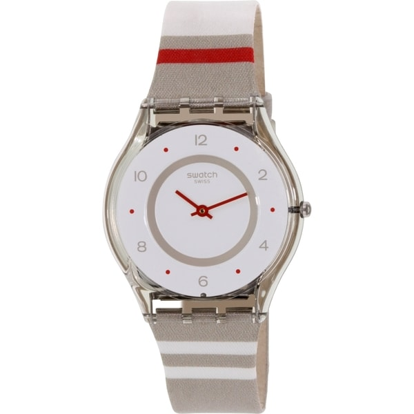 Swatch Women's Skin SFM131 Multicolor Nylon Swiss Quartz Watch