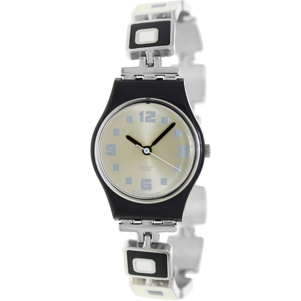 Swatch Women's Originals LB160G Silver/Black Stainless-Steel Swiss Quartz Watch