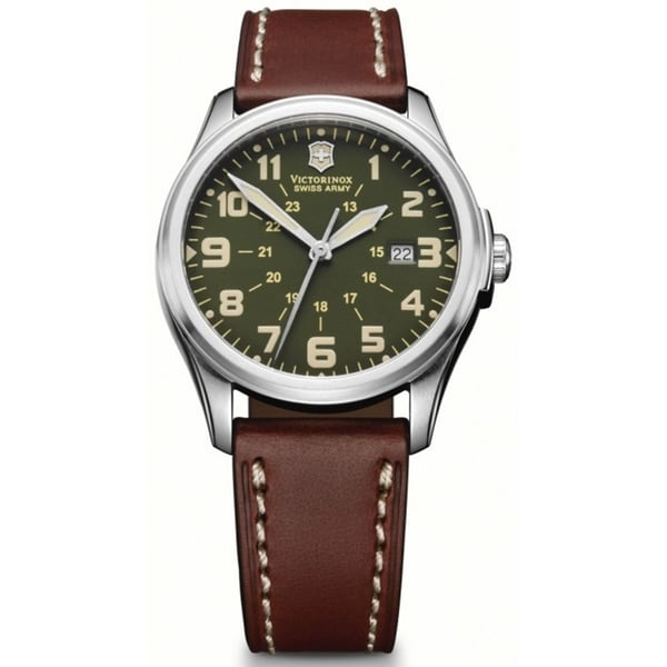 Victorinox Swiss Army Men's Infantry 241309 Brown Leather Swiss Quartz Watch