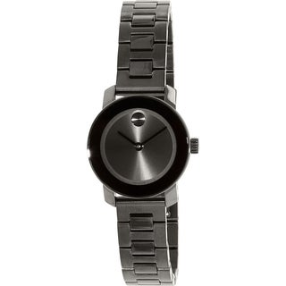 Movado Women's Bold 3600236 Gunmetal Stainless-Steel Swiss Quartz Watch