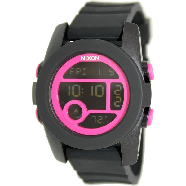 Nixon Women's Unit 40 A4901614 Black Rubber Quartz Watch