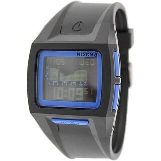 Nixon Men's Lodown A289018 Black Plastic Quartz Watch