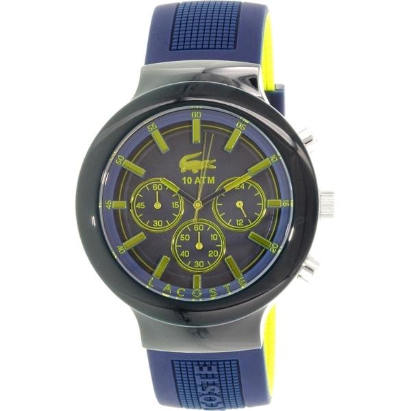 Lacoste Men's Borneo 2010797 Blue Silicone Quartz Watch
