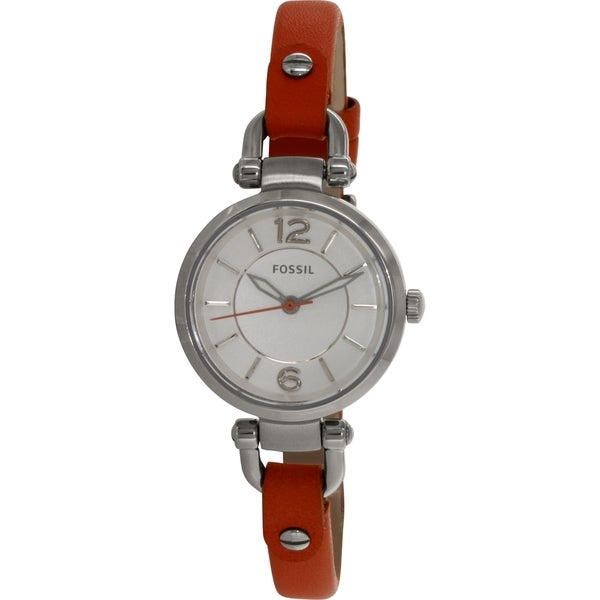 Fossil Women's Georgia ES3742 Orange Leather Quartz Watch