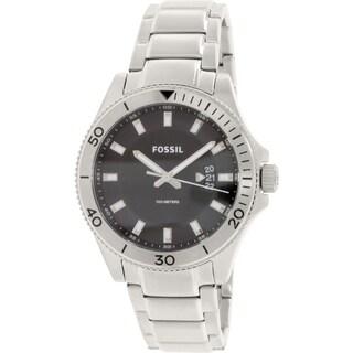 Fossil Men's Wakefield FS5058 Silver Stainless-Steel Quartz Watch