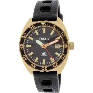 Fossil Men's Breaker FS5050 Black Rubber Quartz Watch