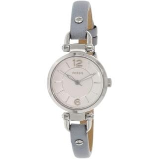 Fossil Women's Georgia ES3822 Grey Leather Quartz Watch