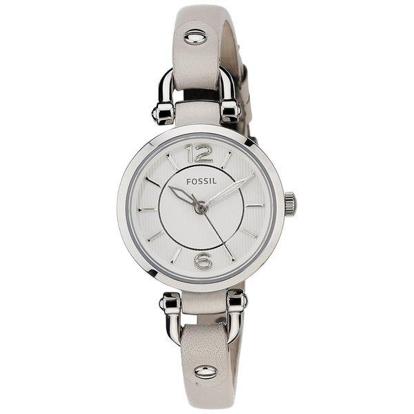 Fossil Women's Georgia ES3808 Beige Leather Quartz Watch