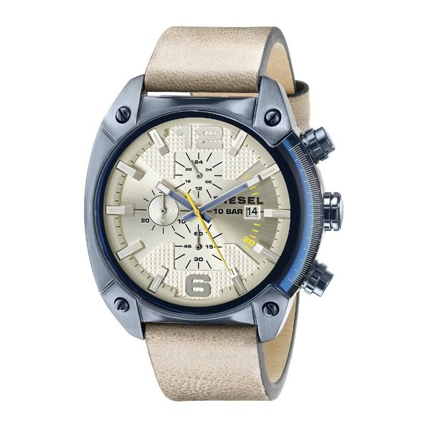 Diesel Men's DZ4356 Beige Leather Quartz Watch