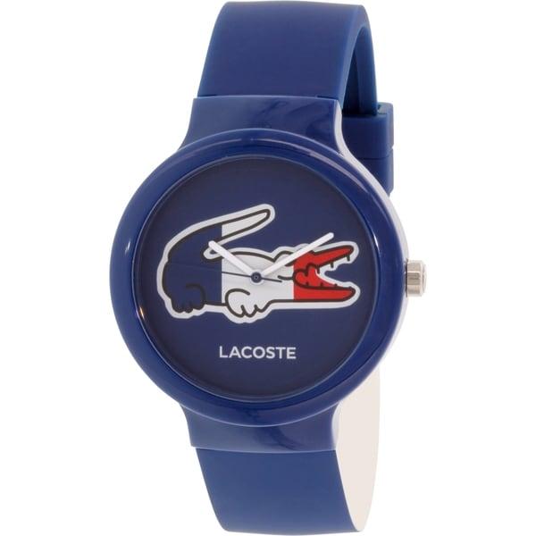Lacoste Men's Goa 2020068 Blue Silicone Analog Quartz Watch