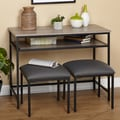 Simple Living 3pc Seneca Console Table and Stool Set