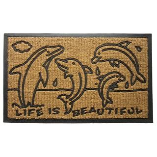 Coir Dolphin Family Doormat