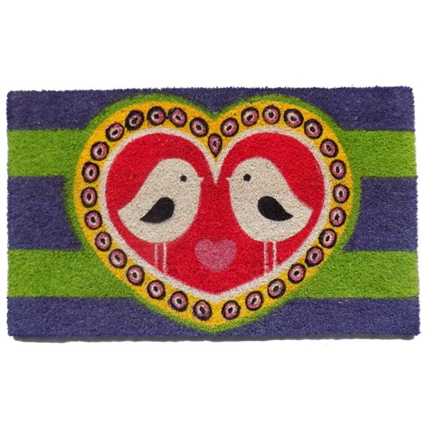 Coir Love Birds Doormat