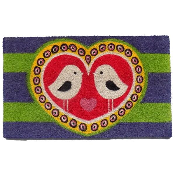 Coir Love Birds Doormat