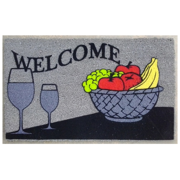 Coir Welcome Wine Doormat