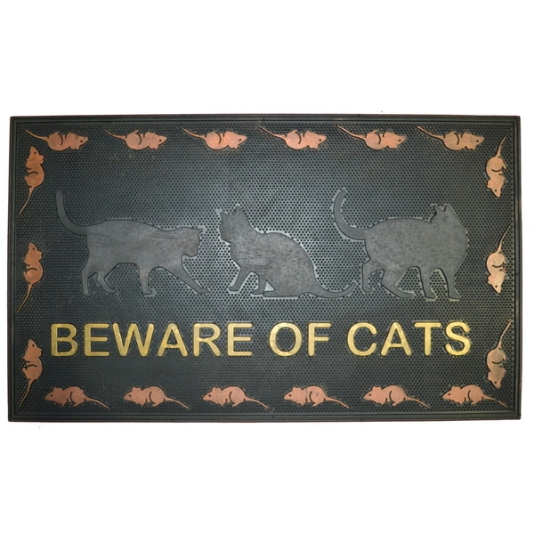Wrought Iron Beware of Cats Doormat