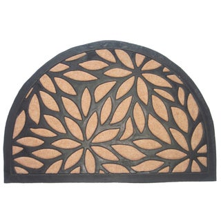 Brown Petals Half Round Doormat