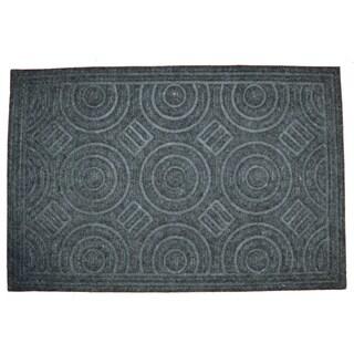 Circle Grey Doormat
