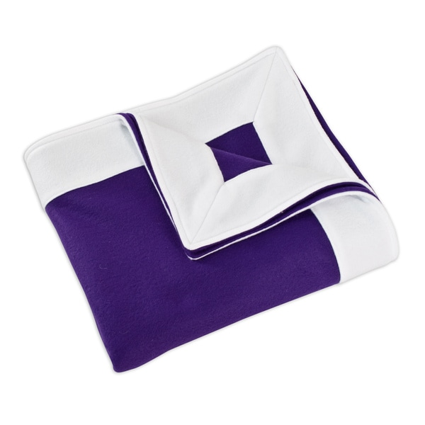 Fleece Purple/ White Simply Soft Throw