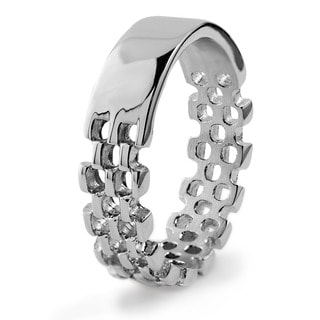 Men's Stainless Steel Link Band Ring
