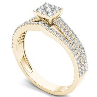 De Couer 10k Gold 5/8ct TDW Diamond Ring (H-I, I2)