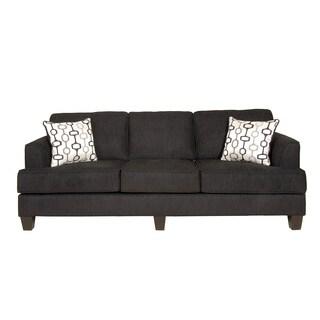 Soprano Radical Texture Sofa and Loveseat Set, Black