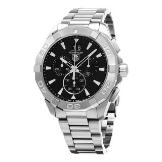 Tag Heuer Men's CAY1110.BA0925 '300 Aquaracer' Black Dial Stainless Steel Chronograph Swiss Automatic Watch