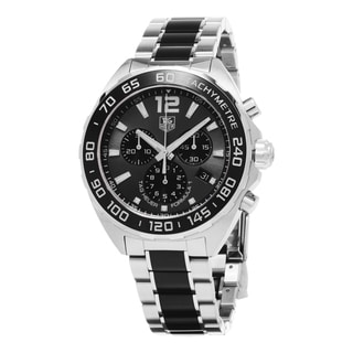 Tag Heuer Men's CAZ1111.BA0878 'Formula 1' Black Dial Stainless Steel/Ceramic Chrono Swiss Quartz Watch